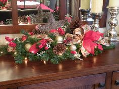 Table Centerpiece Christmas Centerpiece Winter by KathysWreathShop