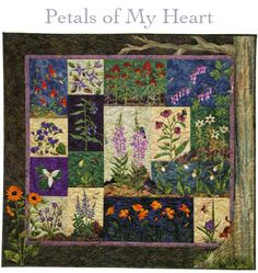 Petals of my Heart - Quilt Patterns by McKenna Ryan, featuring some of my favourite wildflowers. $76 for the pattern