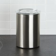 Shop Airscape Coffee Canister.  Airtight storage in restaurant-grade stainless steel eliminates flavor-sapping oxygen for longer shelf life of coffee, tea and other staples.