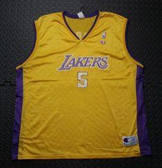 b5de8769126 Men s Los Angeles Lakers Basketball Jersey Robert Horry NBA Champion Shirt  2XL  NBA  Jerseys