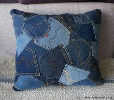 Alterations of jeans (selection) Denim Decor, Denim Art, Denim Furniture, Blue Jean Quilts, Denim Ideas, Denim Crafts, Recycle Jeans, Recycled Denim, Fabric Bags