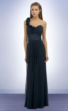 Bridesmaid Dress  Bill Levkoff One Shoulder Bridesmaid Dress 334 with Flowers image