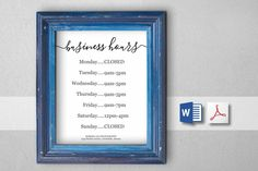 Business hours sign looking for a business hours sign to place on business hours sign printable template hours of operation holiday office store open hours pdf word diy instant download digital file wajeb Choice Image