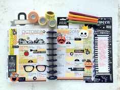 Friday the 13th! ...whoops! We mean Tuesday the 13th but still: take a look at this spooky October monthly spread by mambi Design Team member @maryannmaldonado! The Fall color scheme and the perfectly placed Halloween accents make us picture Mary-Ann dancing to Thriller while ticking items off of her checklists!  by meandmybigideas