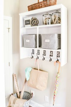 Repurposed storage ideas come in all shapes and sizes. You can find old cabinet doors and thrifty furniture pieces and give them new life, creative storage. Diy Furniture Plans, Furniture Projects, Furniture Makeover, Home Projects, Furniture Assembly, Luxury Furniture, Craft Projects, Hand Painted Furniture, Repurposed Furniture