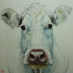 White cow painting.