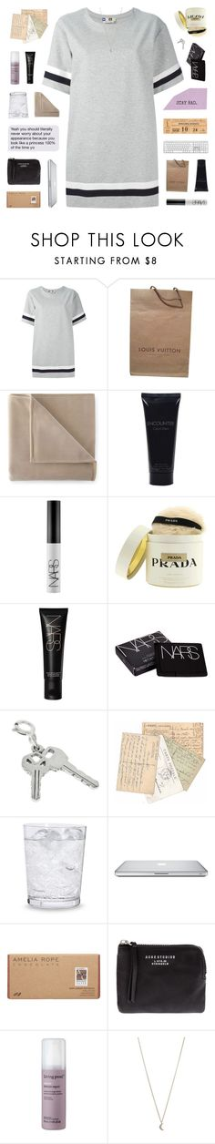 """- i don't need no money when your love is beside me"" by philosoqhy ❤ liked on Polyvore featuring MSGM, Louis Vuitton, Martex, Bulgari, NARS Cosmetics, Prada, Schott Zwiesel, Amelia Rose, Acne Studios and Living Proof"