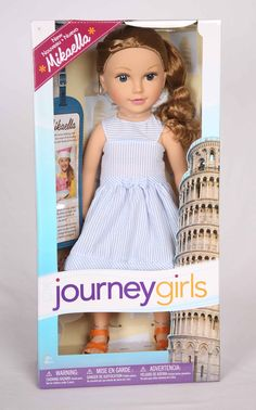 A new Journey Girl has been added to the main line of dolls.  Mikaella has joined the other six girls on their trip to Italy.  Mikaella isn't brand new; rather she was a special holiday edition doll that has now made it into the main line.  The holiday edition of Mikaella was released as a blonde and as a brunette.
