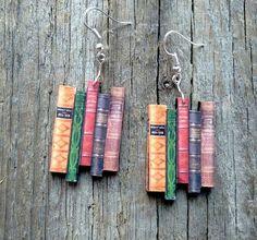Classic novels earrings