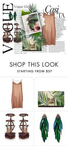 """Perfect strangers"" by didiiidia ❤ liked on Polyvore featuring Whiteley, River Island, Louis Vuitton, Valentino, Bibi and Nika"
