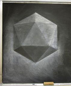 Waldorf ~ 8th grade ~ Platonic Solids ~ Icosahedron ~ chalkboard drawing