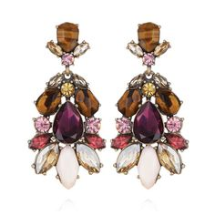 Bouquet Statement Earrings   Chloe + Isabel   wedding jewelry   wedding accessories   bride   bridal party   mother of the bride  
