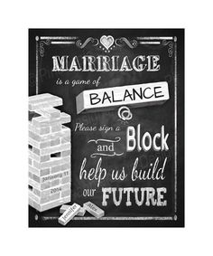 PERSONALIZED Wedding sign a block wedding signage in a chalkboard style - DIY Printable - Rustic Collection Our Wedding Day, Wedding Guest Book, Diy Wedding, Wedding Ideas, Fall Wedding, Wedding Stuff, Jenga Guest Book, Guest Book Sign, Guest Books