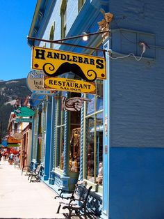 Silverton, Colorado .... Handlebars....Love this place!!! We go every time we go to Silverton to visit Maw Maw & Paw Paw!!