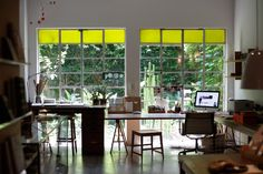 Look at the wonderful windows.  Lots of open spaces