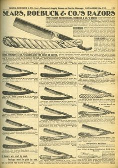 sears straight edge razor