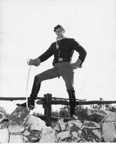 "Charleton Heston as ""Major Dundee"". Directed by Sam Peckinpah."