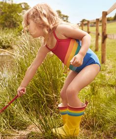 rainbow swimsuit // little bird by jools oliver via mothercare