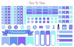 Under The Sea Decorative Kit Planner stickers by TwoToPlan