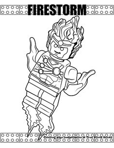 Firestorm coloring page