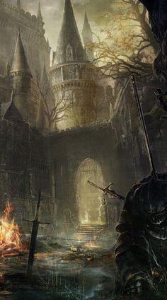 Dark Souls K Wallpaper Dark Fantasy Art, Fantasy World, Dark Art, Arte Dark Souls, Dark Souls 2, Bloodborne Art, Best Iphone Wallpapers, Soul Art, Dark Wallpaper