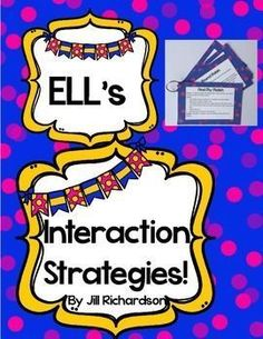 Here are 12 ELL/ESL strategies that are great for all students. Just print, laminate, hole punch and go!