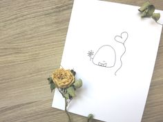 Valentine's Day Card Be Mine-Flower & Balloon, Quirky card, Sweet card, Cute card, Love, Hand drawn by paigeandpudge on Etsy https://www.etsy.com/listing/262075503/valentines-day-card-be-mine-flower