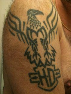 harley-davidson tattoos | harley davidson side tattoo 35 Groovy Harley Davidson Tattoos