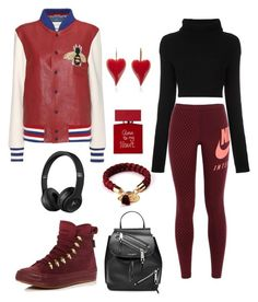 """""""style Sport day"""" by daniellecarso on Polyvore featuring Gucci, Valentino, NIKE, Converse, Marc Jacobs and Bella Freud"""