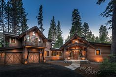 3,000 sf home overlooking a tributary creek to Lake Tahoe. Architecture: Don Fulda & Aren Saltiel