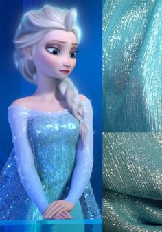 The detail in Elsa's dress!!!