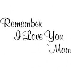 ☆.。.:*・°☆.。.:*・°☆.。.:*・°☆.。.:*・°☆ I love you too Mom, xox ☆.。.:*・°☆.。.:*・°☆.。.:*・°☆.。.:*・°☆