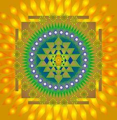 Mandala Shine by Sarah Niebank Hoffman Mandala Painting, Mandala Art, Lakshmi Images, Sri Yantra, Shape Art, Framed Prints, Art Prints, Flower Of Life, Gods And Goddesses