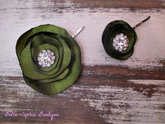 Wedding or Bridesmaids Flower Hair Clips by BellaSophiasBoutique