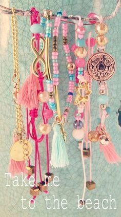 take me to the beach bracelets Boho Jewelry, Beaded Jewelry, Handmade Jewelry, Fashion Jewelry, Neon Jewelry, Jewellery, Beading Supplies, Jewelry Making Supplies, Hippie Chic