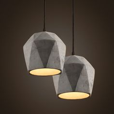 Concrete Odense Gem Pendant Light http://www.tudoandco.com/collections/pendant-light-chandelier/products/concrete-odense-gem-pendant-light