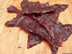 How to make smoked jerky in an electric or wood smoker. Make blackened prime rib. - How to make smoked jerky in an electric or wood smoker. Make blackened prime rib jerky, spicy teriy - Smoker Beef Jerky, Smoker Jerky Recipes, Deer Jerky Recipe, Jerkey Recipes, Beef Jerkey, Barbecue Smoker, Teriyaki Jerky Recipe Smoker, Honey Bbq Beef Jerky Recipe, Electric Smoker Recipes