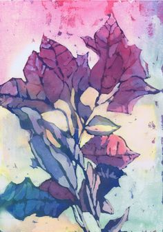 """Poinsettia"" watercolor painting by Sharon Giles"