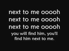 Emeli Sande - Next To Me (Lyrics) Every woman should be able to say this about her man!!!