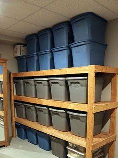 diy Design Fanatic: DIY Storage ~ How To Store Your Stuff , storage, storage shelves, basement storage, garage storage Attic Storage, Laundry Room Storage, Closet Storage, Laundry Rooms, Garage Shoe Storage, Closet Racks, Kayak Storage, Corner Storage, Small Laundry