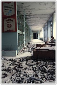 pripyat tchernobyl ville fantome 19 Ville fantôme de Pripyat près de Tchernobyl Plus de découvertes sur Souterrain-Lyon.com:
