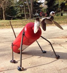 Hey, I found this really awesome Etsy listing at https://www.etsy.com/listing/252792579/fire-extinguisher-dog-recycled-garden