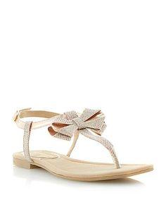 Jillions lurex bow sandals