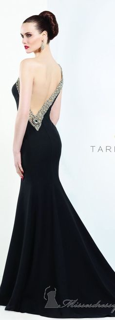 Tarik Ediz Beautiful Black Gown 2013..luv..very unique~