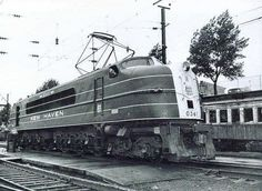 New Haven Railroad heavy electric streamlined locomotive built in 1938.