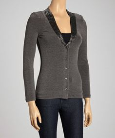 $15 Gray Cardigan Sweater