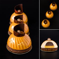 Nina Tarasova's dessert. Caramel individual cake with chocolate Sablé Breton from my master-class in Ekaterinburg.