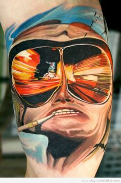 Hunter S. Thompson, Fear and Loathing in Las Vegas #tattoo