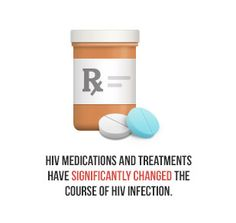 HIV medications and treatments have significantly changed the course of HIV infection