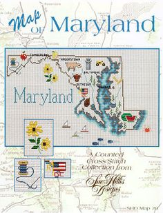 Maryland Map - Cross Stitch Pattern